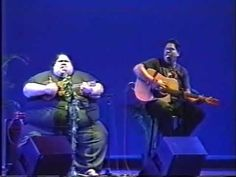 """In one of his last performances, Israel """"IZ"""" Kamakawiwo'ole is performing """"Take Me Home Country Road"""" in this never before seen footage from Hawaii Theater i. Take Me Home, Take My, Down Song, Ukulele, Guitar, Praise Songs, I Miss Him, Music Songs, Music Videos"""