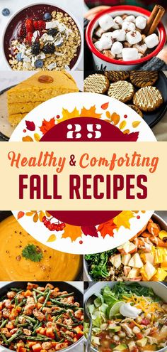 Fall is here and we are giving you 25 healthy fall recipes to celebrate this harvest season It doesnt matter if youre looking for dessert appetizer or main course ideas b. Chef Recipes, Lunch Recipes, Fall Recipes, Great Recipes, Sweets Recipes, Pumpkin Recipes, Abundant Health, Make Ahead Lunches, Healthy Eating Recipes