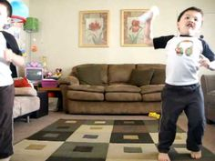 A Punk - Justin and Jeremy playing Just Dance game on Wii