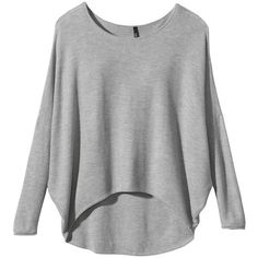 Labworks Women's Dolman Sleeve High- Low Pullover Sweater - Gray ($40) ❤ liked on Polyvore
