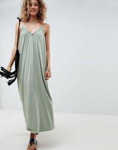 ASOS DESIGN gathered maxi dress