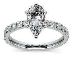 Pear Petite Pave Diamond Engagement Ring in Palladium  http://www.brilliance.com/engagement-rings/petite-pave-diamond-ring-palladium-3/7-ctw