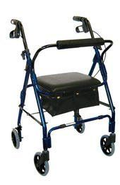 """Drive Medical Mimi Lite Deluxe Aluminum Rollator, Flame Blue by Drive Medical. Save 53 Off!. $109.79. Handles are adjustable in height. Tool Free removable padded back rest for comfort. Comfortable padded seat. 6"""" casters with soft-grip tires are ideal for indoor and outdoor use. Comes standard with pouch. Tool Free removable padded back rest for comfort. Special loop lock made of internal aluminum casting operates easily and ensures safety. Handles are adjustable in height. Comfortable p..."""