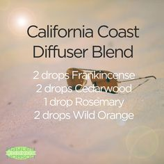 Since I'm in California this week, I thought what better time to share this essential oil blend! I love to have this in my diffuser when my home is covered in snow. It's almost as if you bottled up the beach air I'm smelling now and took it home! Have you tried this blend? I'd love to hear your thoughts! www.hayleyhobson.com