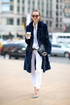 Chic outerwear: see all of the best coats spotted during New York Fashion Week. #fashion #style #woman