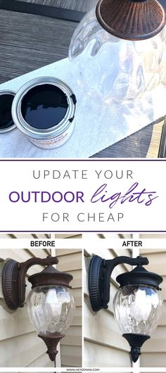 Looking for a quick and easy way to update your outdoor lighting on the cheap? This post shows you how to make a big impact for cheap!