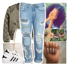 """#100happydays .. #day25"" by lamamig ❤ liked on Polyvore featuring MICHAEL Michael Kors, rag & bone/JEAN and adidas"
