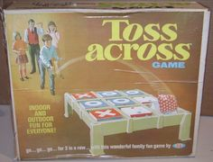 IDEAL: 1970 Toss Across Game #Vintage #Games