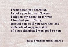 """""""Scars"""" Rudy Francisco - Love, lust, and other quotes"""