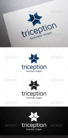 Triception Logo — Vector EPS #fold #north • Available here → https://graphicriver.net/item/triception-logo/5046495?ref=pxcr
