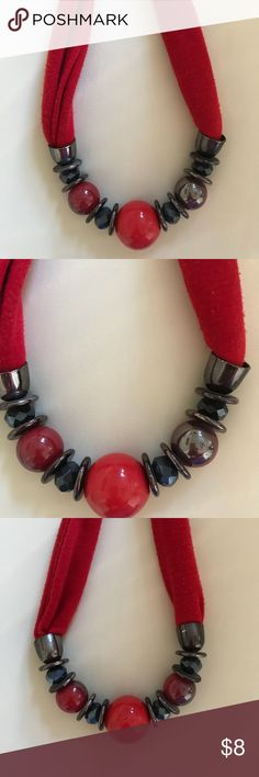 Dressbarn Chunky Red Necklace Dressbarn Chunky Red Necklace previously worn Dress Barn Jewelry Necklaces