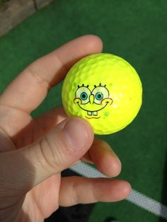 funny smiley face painting #golf #ball