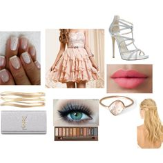 A fashion look from June 2014 featuring bridesmaid dresses, platform sandals y leather handbags. Browse and shop related looks.