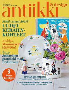 Antiikki & Design 1/2017. Kannen kuva Pia Inberg, tyyli Irene Wichmann