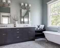 Grey Bathroom Ideas: A Modern Touch : Elegant Grey Bathroom Painting Color