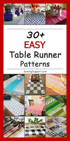 Show Stopping Free Table Runner Patterns! — SewCanShe Free Sewing Patterns for BeginnersLooking for free table runner patterns? I gathered up all my favorites in one place - here's a table runner pattern for every season! Patchwork Table Runner, Table Runner And Placemats, Quilted Table Runners, Table Runner Tutorial, Table Runner Pattern, Quilted Table Toppers, Quilt Patterns Free, Free Pattern, Patchwork Designs