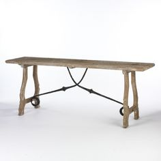 Spanish wood and iron table