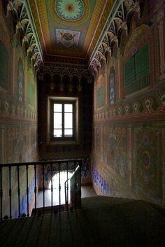Castello di Sammezzano - scala interna. (FI) Toscana, Italy