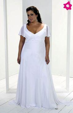 vestidos blancos para gorditas - Buscar con Google