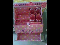 Resultado de imagen para organizador de maquillaje con carton
