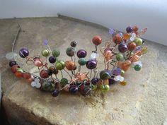 Winter Berries Tiara Handmade using a range of by clairenharley,
