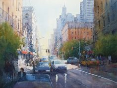 Ian Ramsay Watercolors - Deep in New York City
