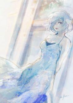 Que linda essa arte <3-<3 | Touka - Tokyo Ghoul