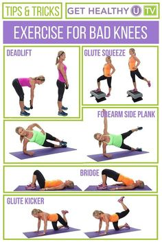 Free visual PDF workouts, custom workout builder, Exercise & Yoga Cards and more simple tools for you to exercise with confidence and reach your fitness goals. Pilates, Knee Strengthening Exercises, Torn Meniscus Exercises, Stretches, Sore Knees, Weak Knees, How To Strengthen Knees, Leg Workout At Home, Back In The Game