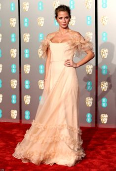 custom Halfpenny London pink gown, David Morris jewels, and Aspinal of London clutch. Pink Gowns, Blush Dresses, White Gowns, Nice Dresses, Formal Dresses, Burgundy Gown, Millie Mackintosh, Red Carpet Gowns, Pink Floral Dress