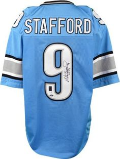 Matthew Stafford Autographed Jersey - Custom Prostyle - SM - JSA Certified - Autographed NFL Jerseys by Sports Memorabilia. $229.99. Matthew Stafford Autographed Jersey - Custom Prostyle - JSA/SM. This handsome piece is certified by exclusive numbered hologram. Matt Stafford is known to avoid official signing sessions, making pieces like this one hard to find. A+ quality signature. Whether this is a gift or a personal buy for your collection, we can guarantee that you can't find...