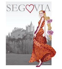 Cuaderno de viaje  Segovia T-Shirts by Mónica Carretero.  http://monicarretero.blogspot.com.es/