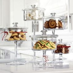 Glass Candy Jars for putting assorted stitch markers