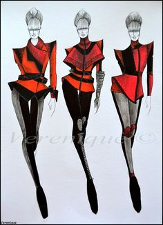 Red fall collection 1. by Verenique.deviantart.com on @deviantART