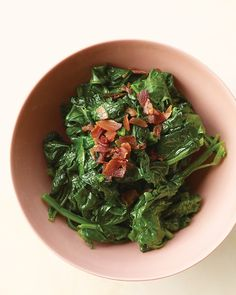 Sauteed Spinach with Crisp Pancetta Recipe
