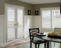 Inspire a perfect dining experience with Hunter Douglas Custom Shutters  #WindowTreatments