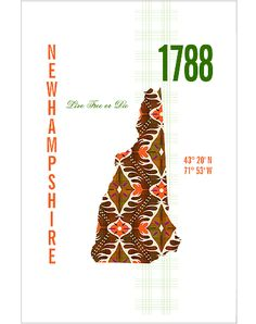 New Hampshire Map Print. I would love to have this as a tattoo, probably without the words.