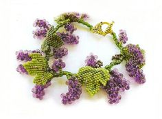 Grape vine bracelet. Schema and discussion. (Translate)  #Seed #Bead #Tutorials