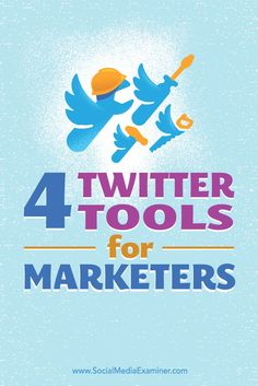 Looking to improve your Twitter marketing?  Are you seeking tools to help you manage Twitter?  In this article, you'll discover four tools to help you build and maintain a successful Twitter presence.Via /smexaminer/.