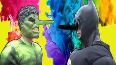 Batman & Hulk Get a PINOCCHIO NOSE ! Spiderman & Elsa & CaptainAmerica !...