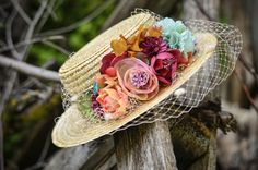 Amir Sombrero A Crochet, Kubo And The Two Strings, Fascinator Hats, Fascinators, Derby Outfits, Spring Hats, Boater Hat, Dapper Day, Diy Hat