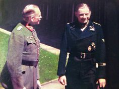 Tiger tank commander Michael Wittmann (right) wears the distinctive black uniform of the panzer corps. Wittmann is in conversation with General Heinz Guderian, the father of the Nazi Blitzkrieg tactics that overran Poland, much of Western Europe, and vast territory in Russia during the early days of World War II.