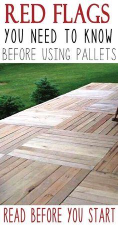 Inspect your pallets before you begin your project, Learn the red flags to look for!
