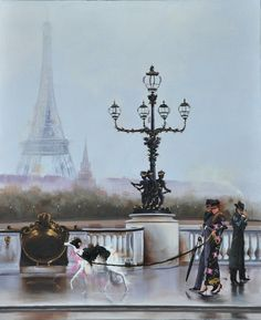 """Pont Alexandre Veiw"" By: Kamiar Gajoum Paris, ambiance, elegant couple with Borzoi, dapper man smoking Cigar. Man Smoking, Cigar Smoking, Pont Alexandre Iii, Dapper Man, Elegant Couple, Smoke, Paris, Couples, Classy Couple"