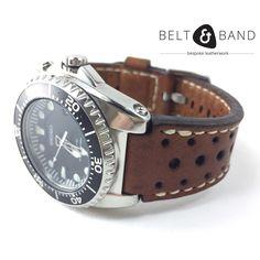 Seiko Diver, Stainless Steel Polish, Watch Straps, Dark Tan, Handmade Leather, Leather Working, Belt, Watches, Brown