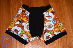 National Underpants Mens Black I Heart Football Knit Boxer Shorts