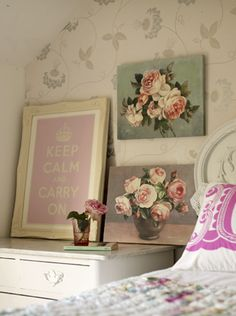 calming corner .. I like the vintage vibe
