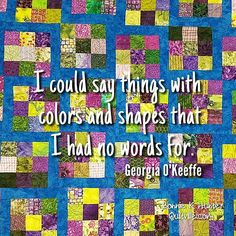I love this quote by Georgia O'Keeffe! I can so relate, can you? If only our…