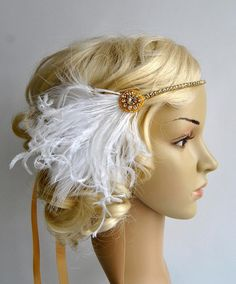 Gold Crystal Rhinestone Headband Headpiece by BlueSkyHorizons