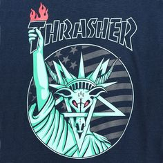 THRASHER Liberty Goat tee-shirt bleu marine - PLAY Skateshop