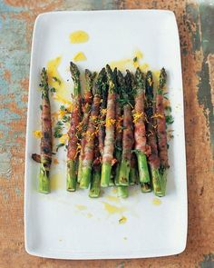 Asparagus Wrapped in Pancetta with Citronette Recipe